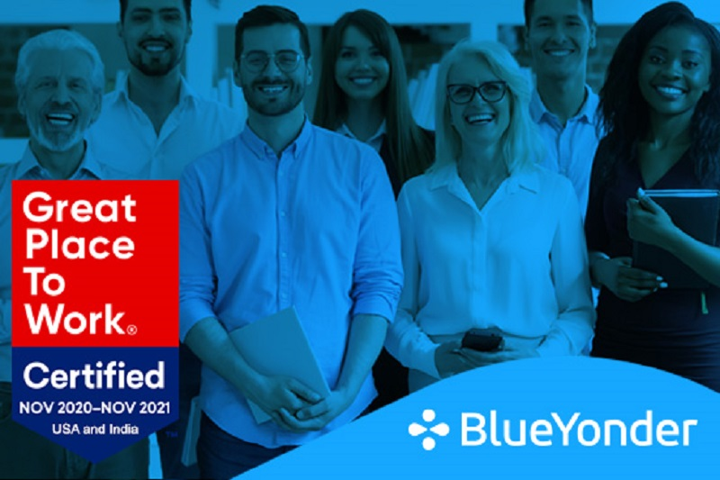 Blue Yonder Named a Great Place to Work<sup>®</sup>