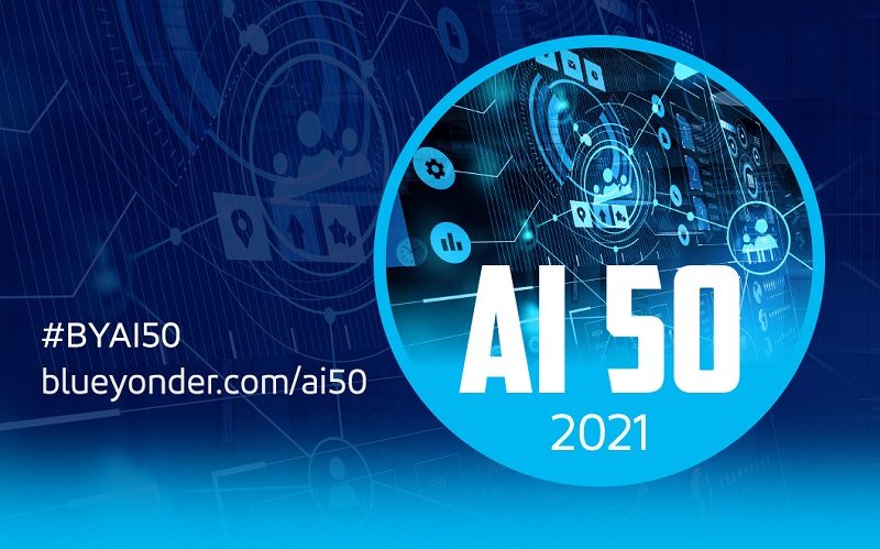 """Blue Yonder Announces Inaugural """"AI 50"""" List of World's Most Influential Artificial Intelligence Leaders"""